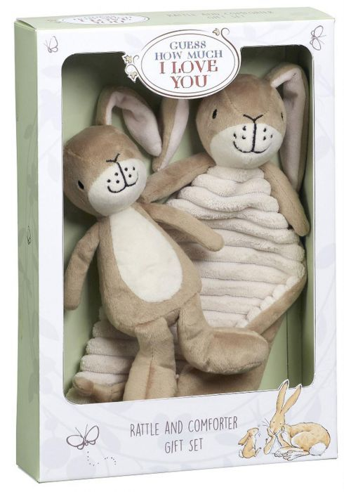 Guess How Much I Love You: Comfort Blanket And Rattle Gift Set