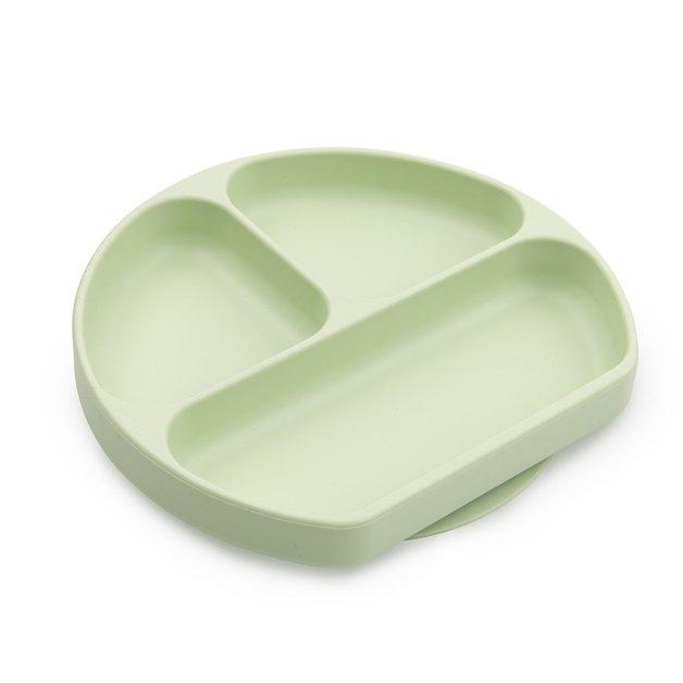 Bumkins: Silicone Grip Dish - Sage