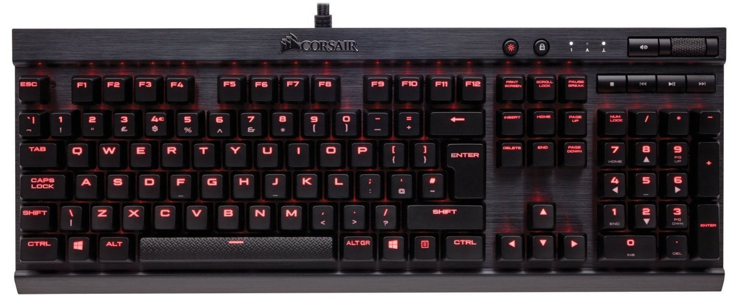 Corsair K70 Rapidfire Mechanical Gaming Keyboard (Red) for PC Games image