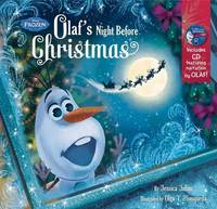 Frozen Olaf's Night Before Christmas Book & CD by Disney Book Group