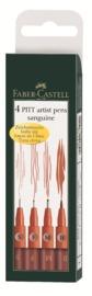 Faber-Castell: Pitt Artist Pens Sanguine (Wallet of 4)