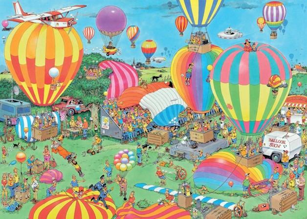 Holdson: 1000 Piece Puzzle - Van Haasteren (The Balloon Festival)