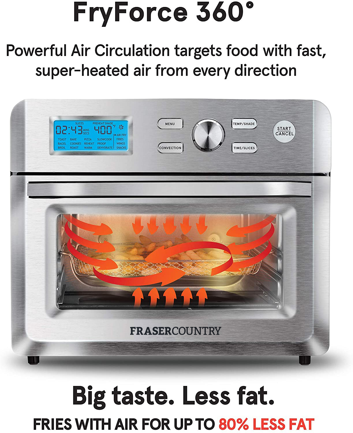 Fraser Country 18L Premium Air Fryer Toaster Oven 1600W image