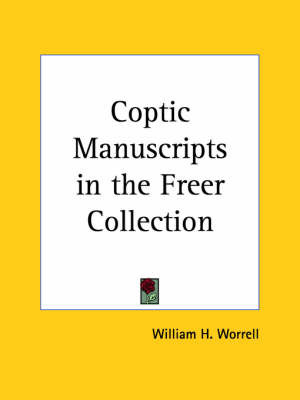 Coptic Manuscripts in the Freer Collection (1923) image
