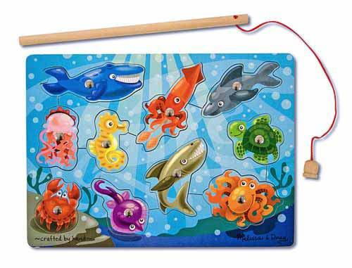 Melissa & Doug: Magnetic Wooden Fishing Puzzle Game image