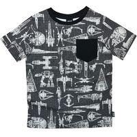Star Wars T-Shirt with Blueprints - Size 8