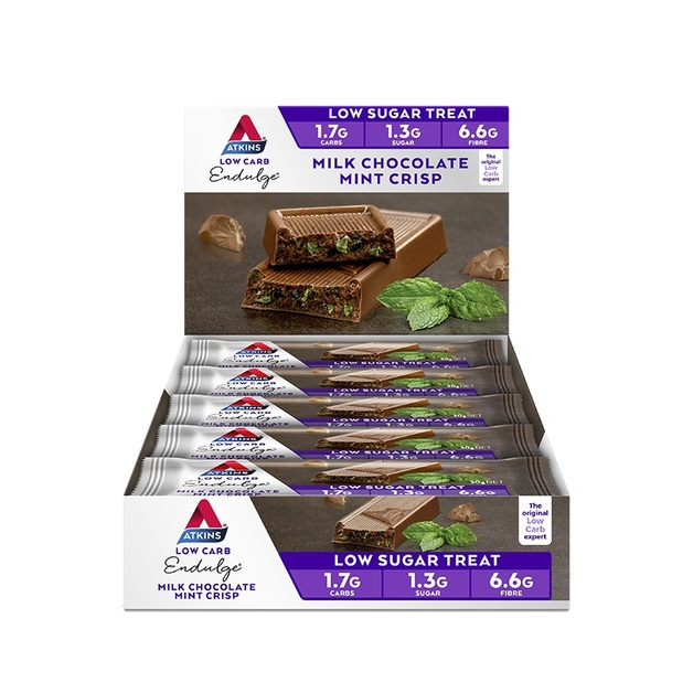 Atkins Endulge Bars - Milk Chocolate Mint Crisp (Box of 15)