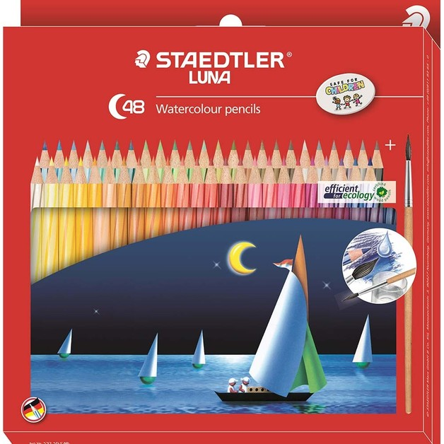 Staedtler Luna 137 Watercolor Pencils (48 Pack)