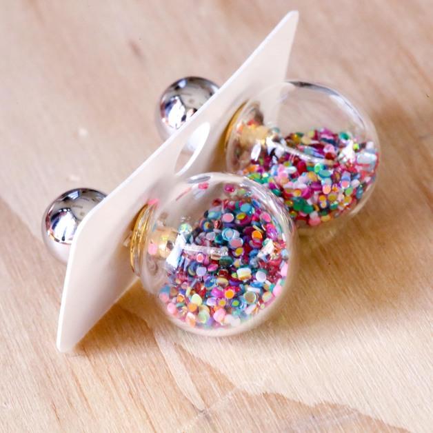 Short Story: Fantasy Bubble Earrings - Confetti Multi