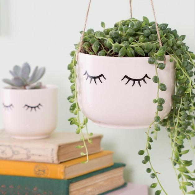 Eyes Shut - Hanging Planter
