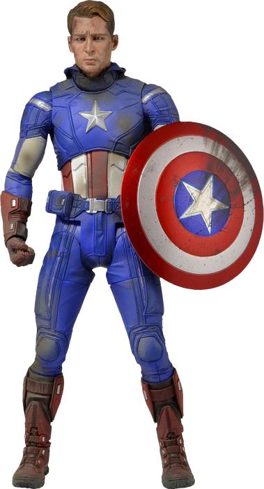 "Marvel Captain America Battle Damaged 18"" Action Figure image"
