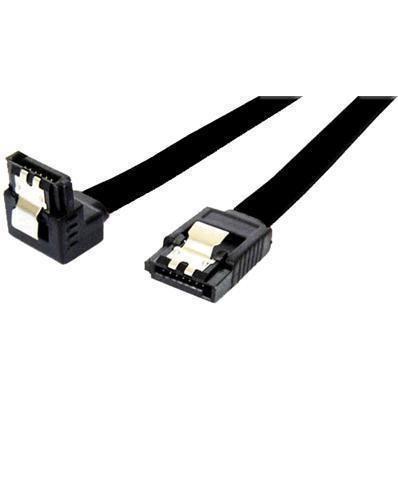 90 Degree 7-pin SATA to 7-pin SATA Cable (black) image