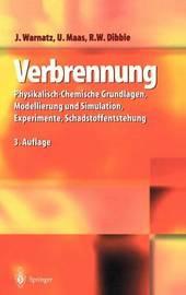 Verbrennung: Physikalisch-Chemische Grundlagen, Modellierung Und Simulation, Experimente, Schadstoffentstehung by J Warnatz