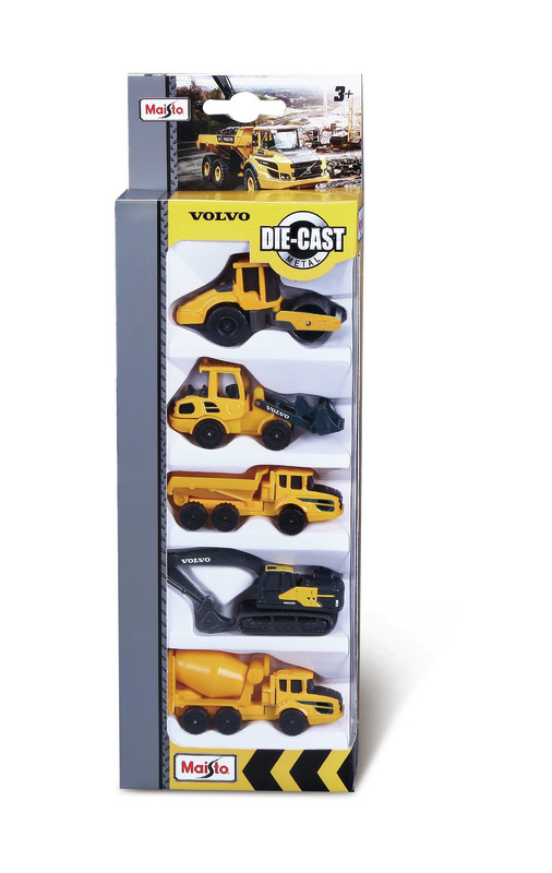 "Maisto: 3"" Volvo Construction - 5-Pack (Assorted Designs)"
