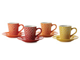 Maxwell & Williams - Graphique Maze Demi Cup & Saucer Set (Set of 4)