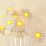 Delight Decor: Chain Battery Felt String Lights - Daisy