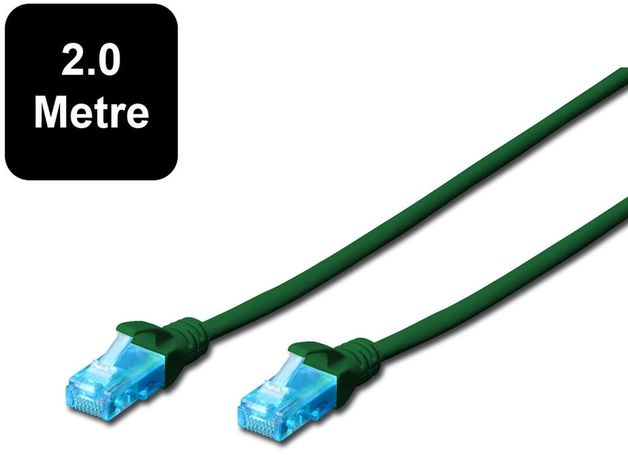 2m Digitus UTP Cat5e Network Cable - Green