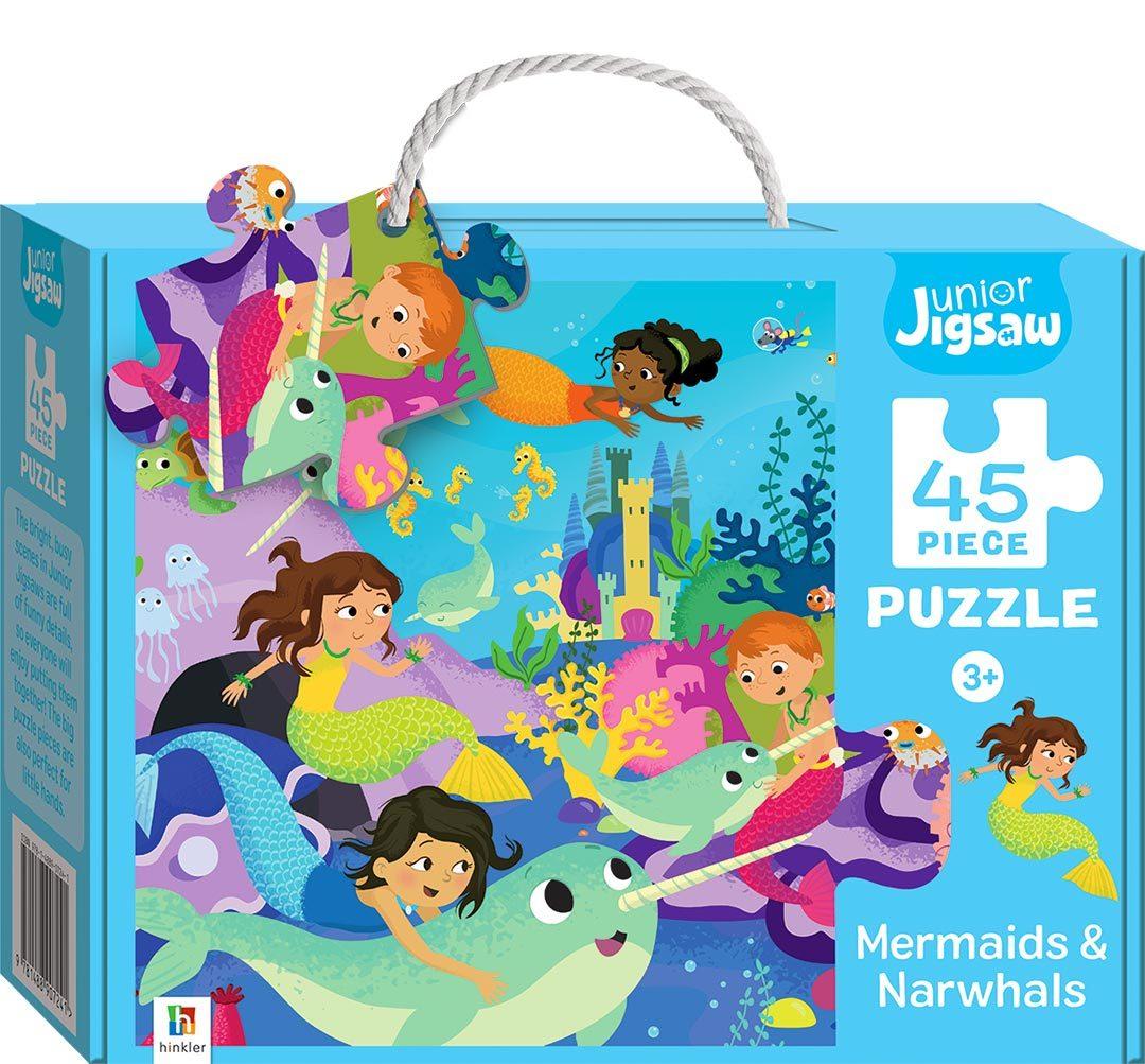 Junior Jigsaw: 45-Piece Puzzle - Mermaids & Narwhals image