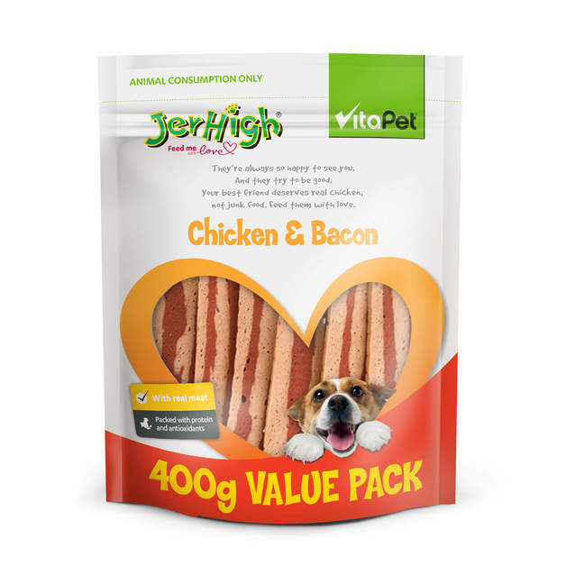 Vitapet: Jerhigh Chicken & Bacon (400g)