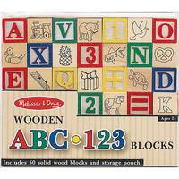 Melissa & Doug: Wooden ABC/123 Blocks Set