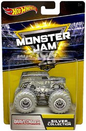 Hot Wheels: 1:64 Monster Jam Anniversary Vehicle (Chrome Grave Digger)