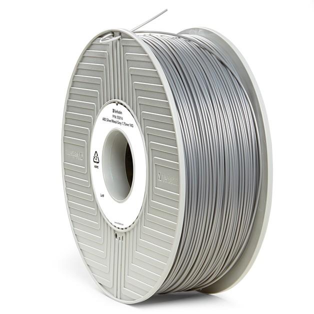 Verbatim 3D Printer ABS 1.75mm Filament - 1kg (Silver/Metal Grey)