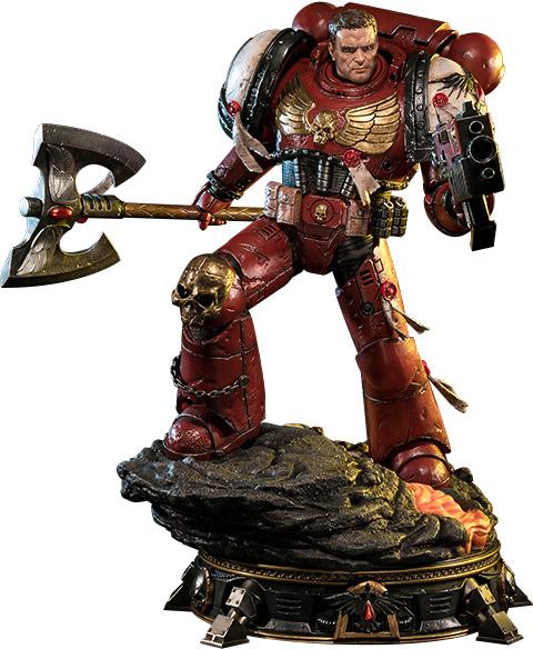 """Warhammer: 40K - Blood Ravens Space Marine (Deluxe Ver.) - 28"""" Premium Statue"""