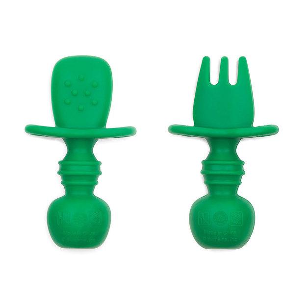 Bumkins: Silicone Chewtensils - Jade