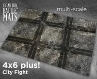 Cigar Box Mat: Cityfight (6x4)