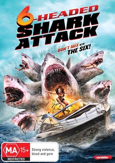 6 Headed Shark Attack on DVD