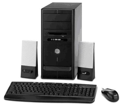 GENIUS HADES 350W MATX SOLUTION BLACK CASE KB/OPT MOUSE/SPKR