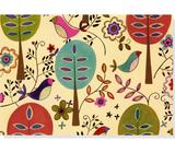 Folk Art Birds Boxed Note Cards (14 Cards/Envelopes)