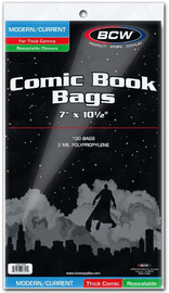 """BCW: Resealable Comic Book Bags - Thick Current (7"""" x 10.5"""")"""