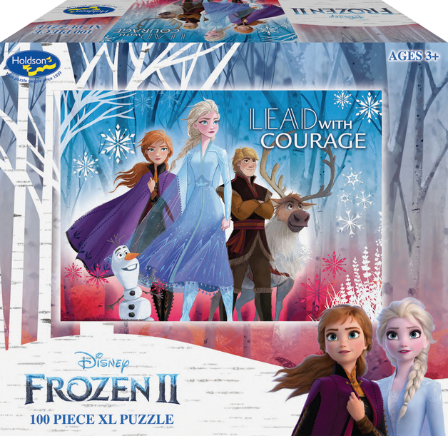 Holdson XL: 100 Piece Puzzle - Frozen 2 (Lead with Courage)