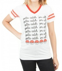 Pokemon: Catch Em All V-neck T-Shirt - (2XL)