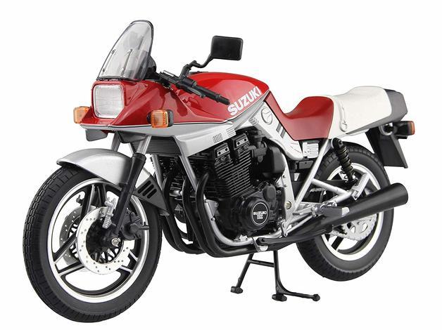 Aoshima: 1/12 Suzuki GSX-1100S Katana E (Red & Silver) - Dicast Model
