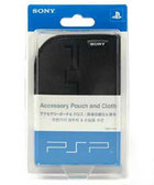 UMD Black Pouch and Cloth for PSP