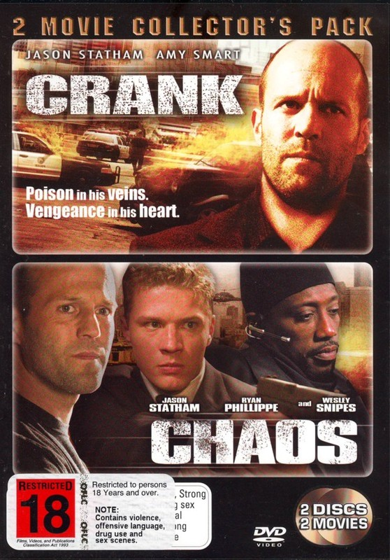 Crank / Chaos (2006) - 2 Movie Collector's Pack (2 Disc Set) on DVD