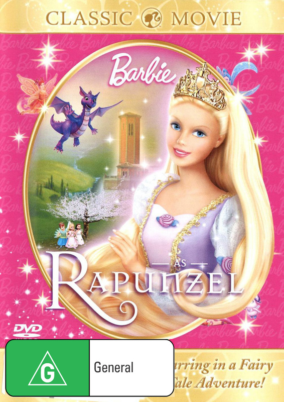 Barbie As Rapunzel on DVD