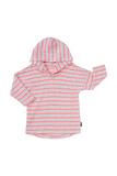 Bonds Salt & Pepper Hoodie T-Shirt - Stripe Neo Heart (0-3 Months)