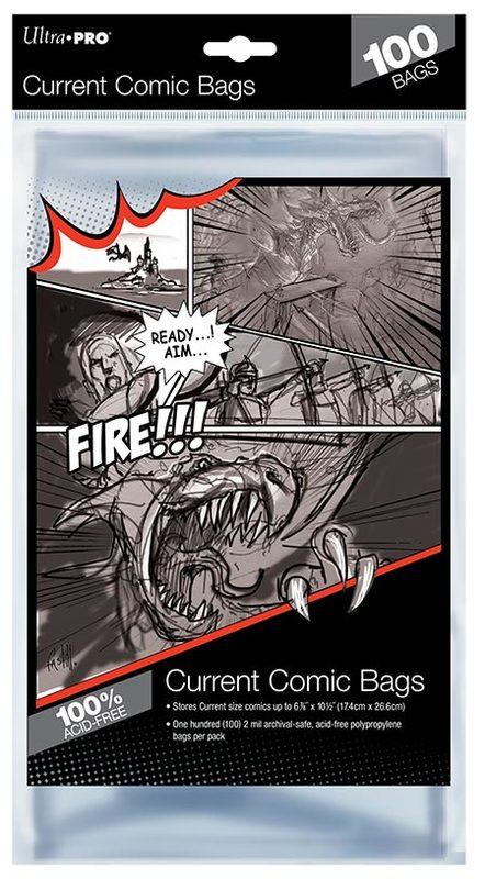 "Ultra Pro: Current Comic Bags - (6.87"" x 10.5"")"