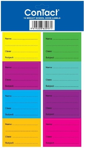 Contact Book Labels Coloured - Pkt 16 image