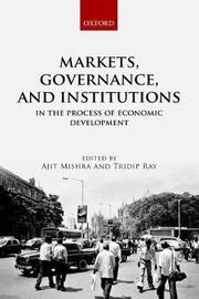 Markets, Governance, and Institutions in the Process of Economic Development image