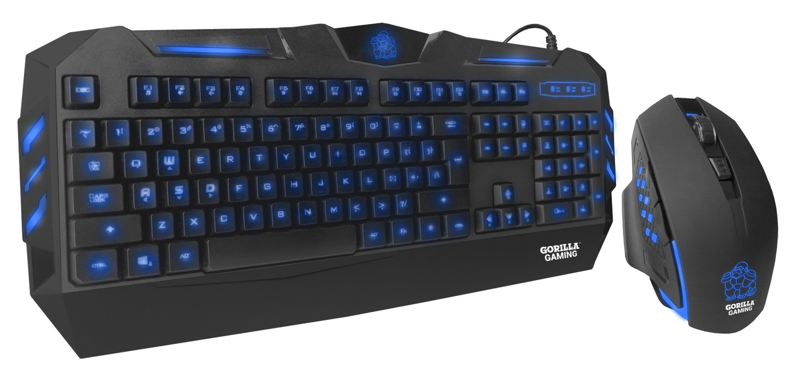 Gorilla Gaming Predator Gaming Combo (Blue) for PC Games image
