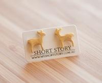 Short Story: Funky Play Earrings - Gold Deer