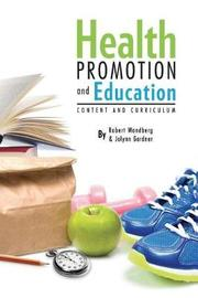 Health Promotion and Education by Jolynn Gardner