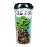 Star Wars Yoda Comic Plastic Travel Mug