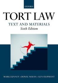 Tort Law: Text and Materials by Mark Lunney image