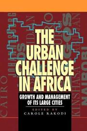 The Urban Challenge in Africa by United Nations University Press