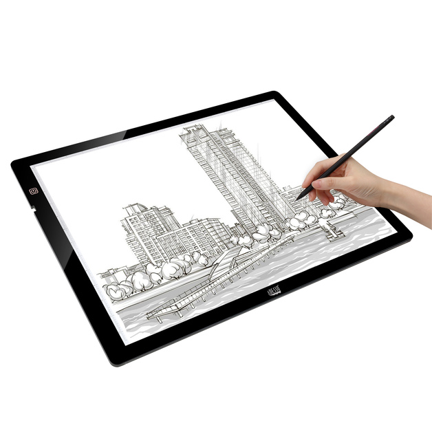 "Adesso: CyberPad P2 – 12"" x 17"" LED Light Tracing Pad"